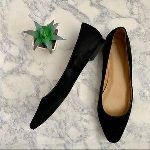 Talbots Black Suede Almond Shape Toe 6.5